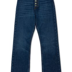 "<a href=""https://www.alexachung.com/row/kick-flare-jeans-rinse-wash-46"">Kick-Flare Jeans</a>, $280"