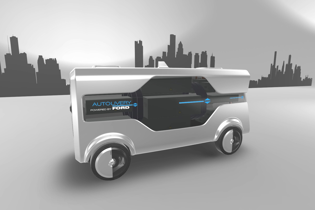 Ford wants to launch drones from self-driving vans to deliver all your crap