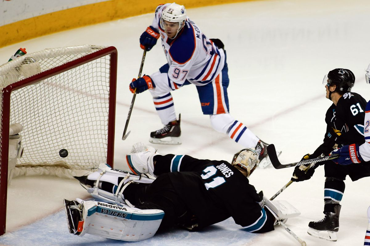 Defensive numbers prove Oilers were outworked by Sharks in Game 1