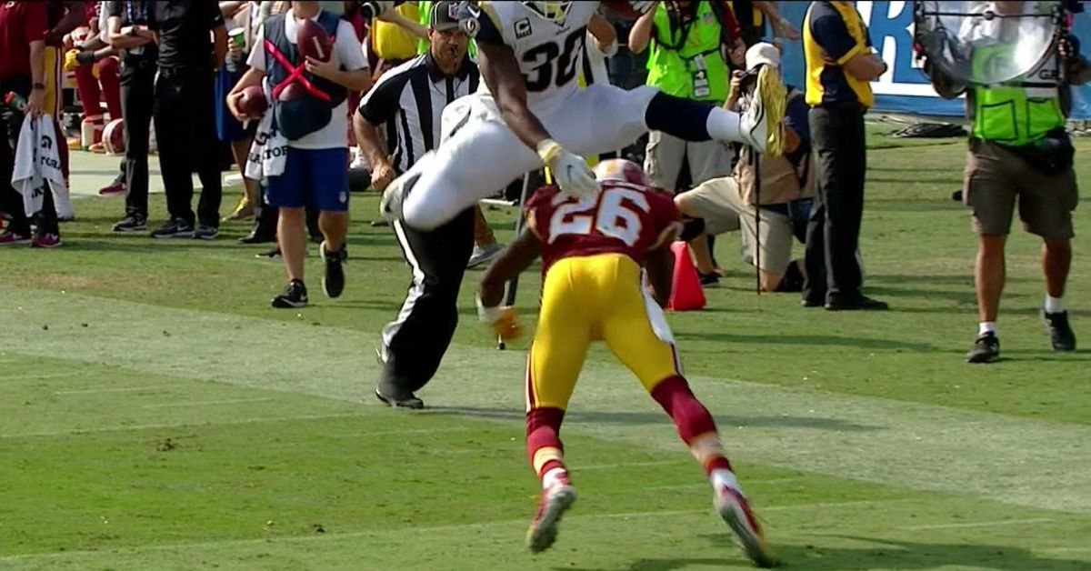 Todd Gurley hurdled a Washington defender like it was ...