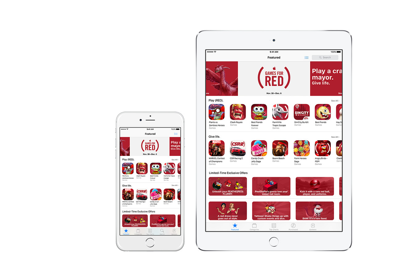 apple s world aids day push includes new products and app store specials