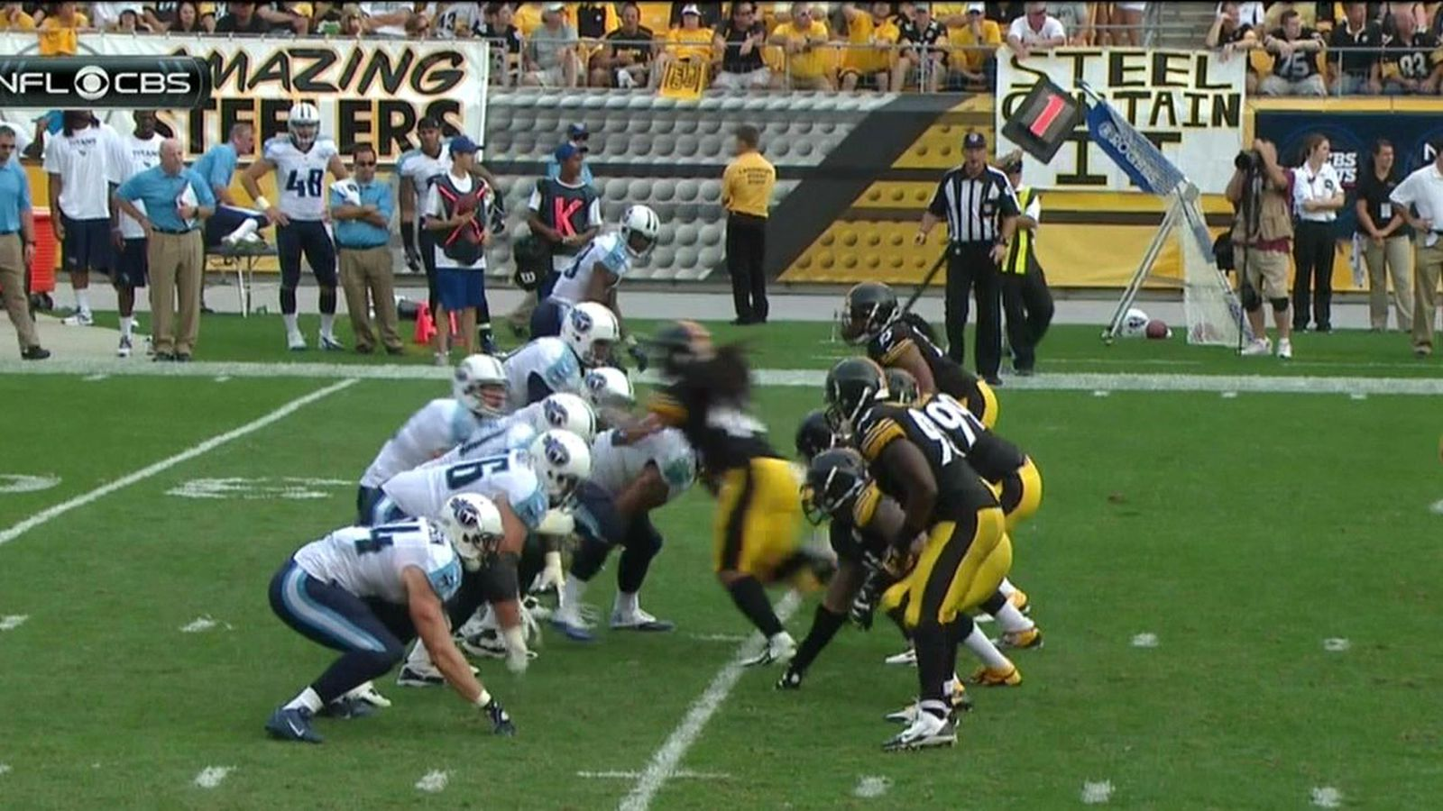 Troy Polamalu Times The Titans Snap Count Perfectly