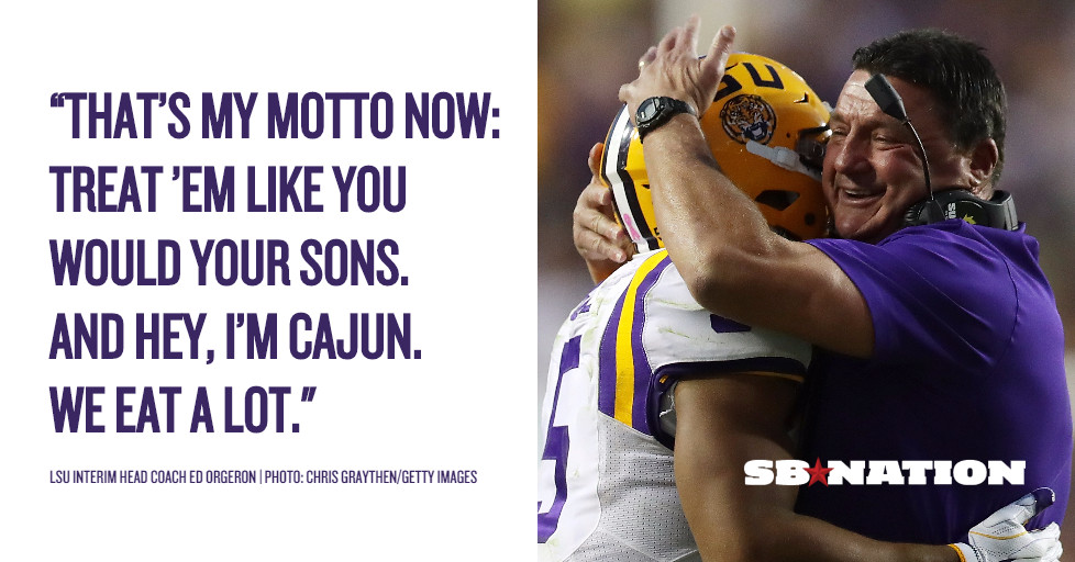 Ed Orgeron Explains Ed Orgeron The Most Changed Man In