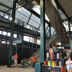 The open steel look in the concourse