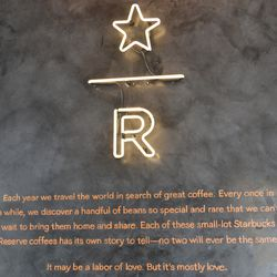 Reserve Bar sign at the Starbucks in Brookland.<br>
