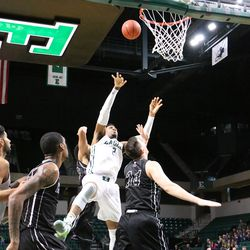 James Thompson going for another basket.<br>