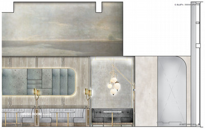 A rendering of the dining room at C. Ellet's.
