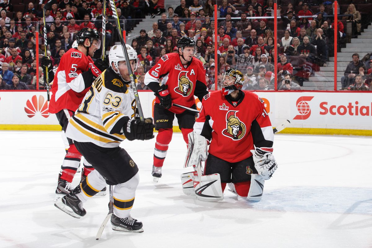 NHL Playoff Odds Ottawa Senators at Boston Bruins
