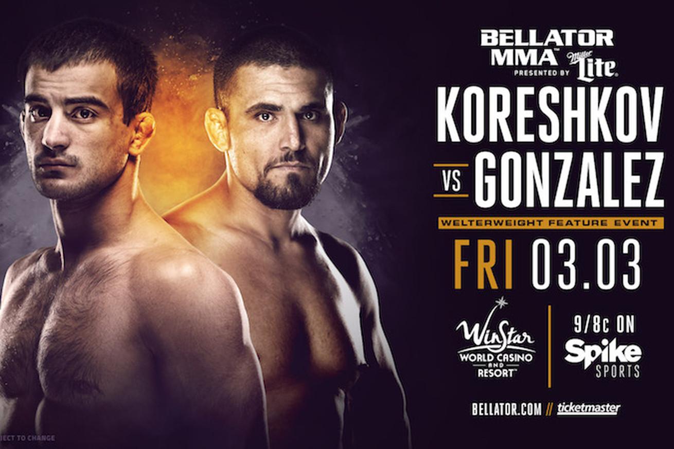 Bellator 174: Koreshkov Gonzalez, Honeycutt Grove added to Spike TV line up