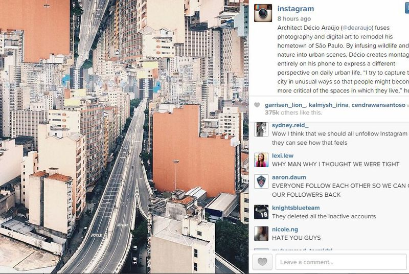 Instagram makes teens and celebrities angry by killing millions of spambots