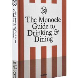 """<a href=""""https://www.yoox.com/au/56002787RN/item#dept=designart&sts=sr_designart80"""">The Monocle Guide to Drinking and Dining</a>, $74"""