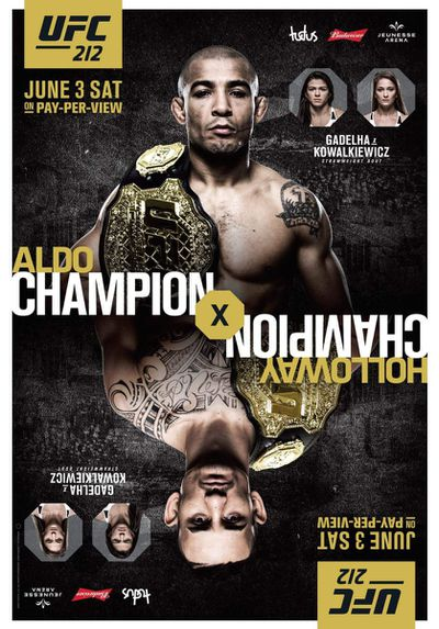 Pic: The UFC 212 poster is always upside down