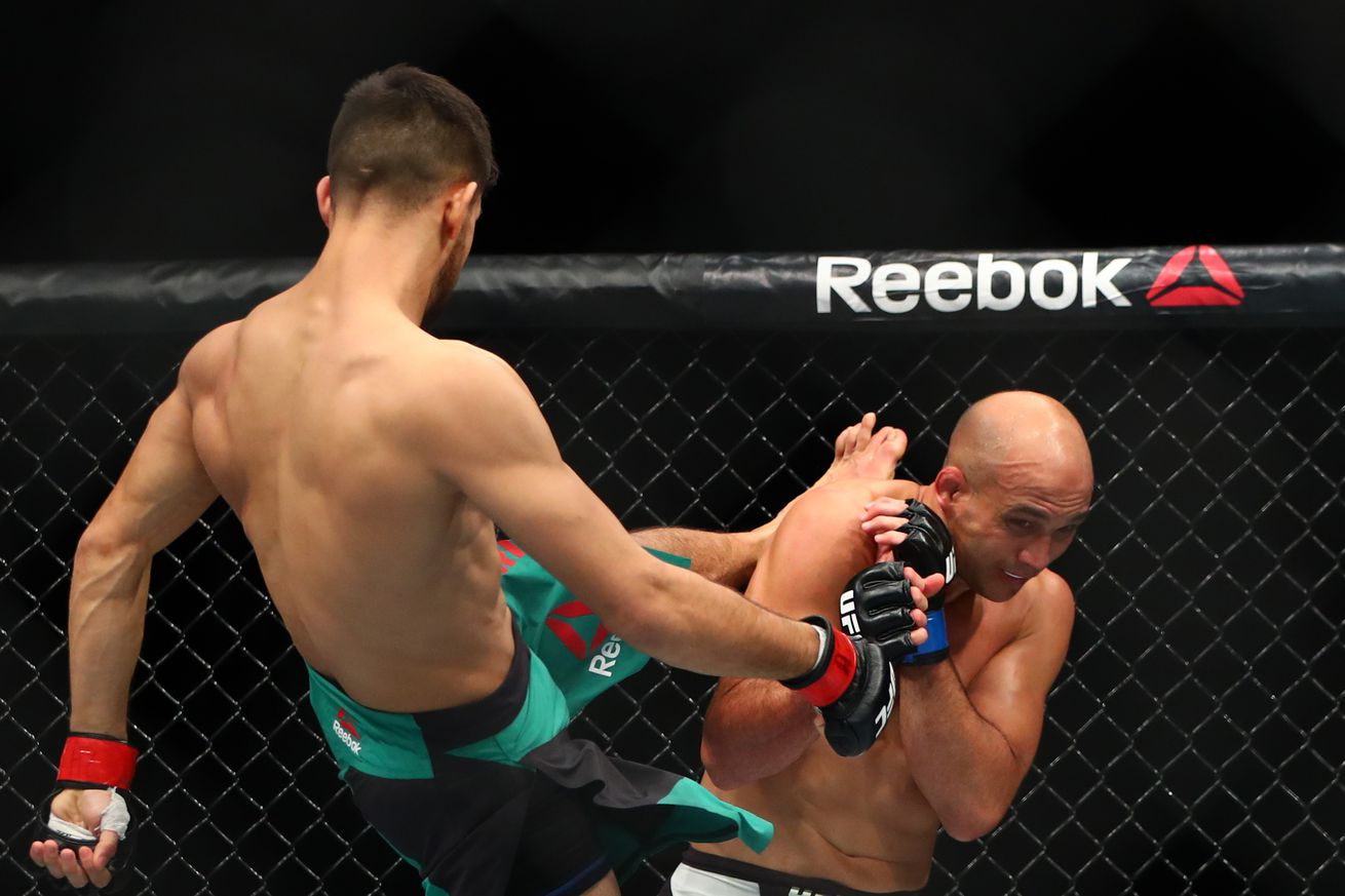 Yair Rodriguez on whether BJ Penn should retire: 'I felt him, he's strong, but it's up to him'