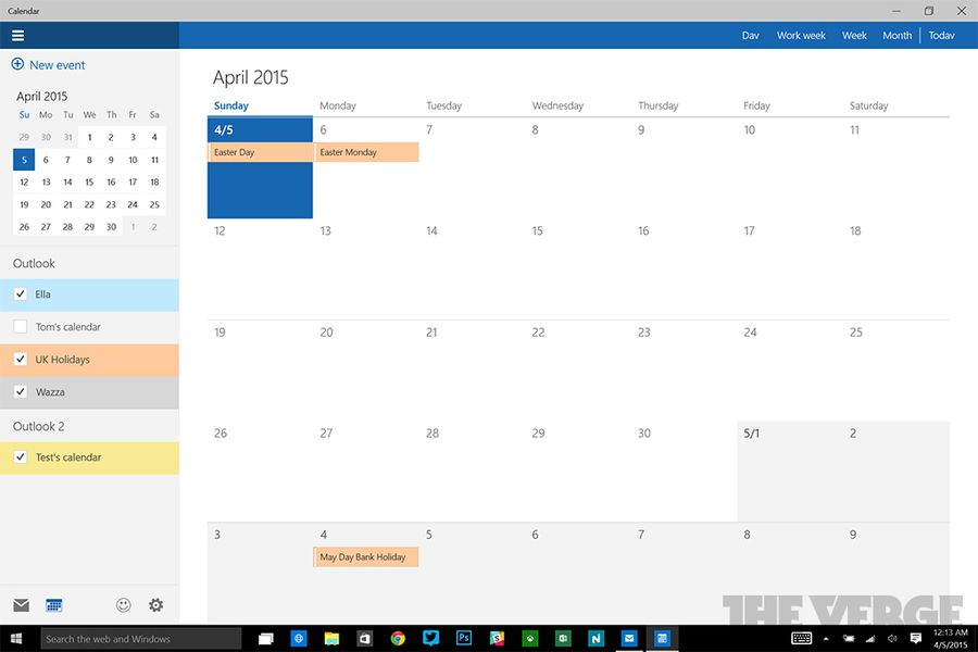 how to add calendars to windows 10 calendar