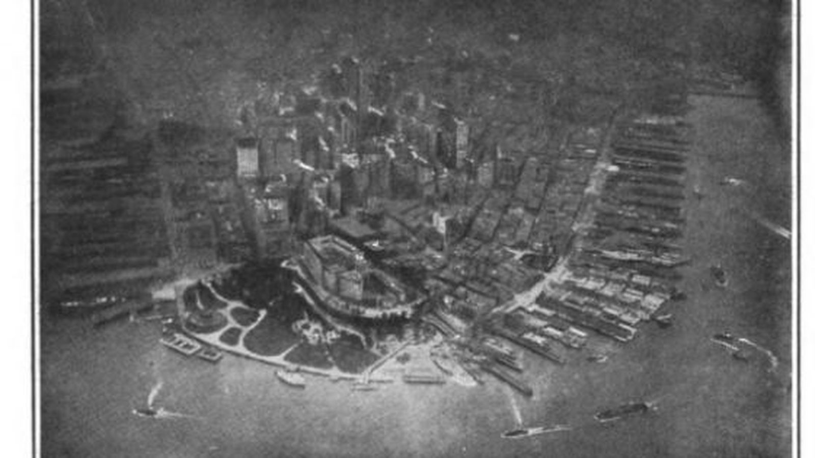 see lower manhattan circa 1906 in the first aerial photo