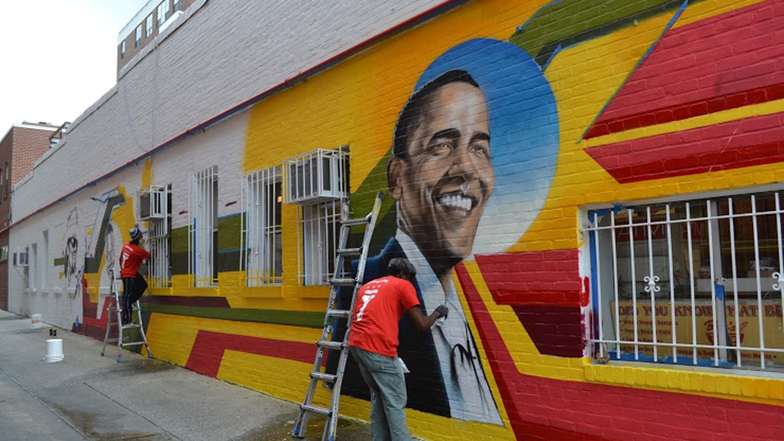 Ben s chili bowl mural to start from scratch eater dc for Chuck brown mural