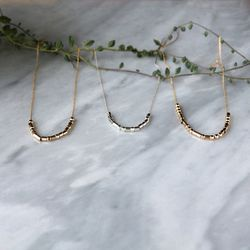 """Morse Code Jewelry <a href=""""https://www.etsy.com/listing/237770751/custom-personalized-morse-code-necklace"""">Custom Personalized Necklace</a>, $59"""