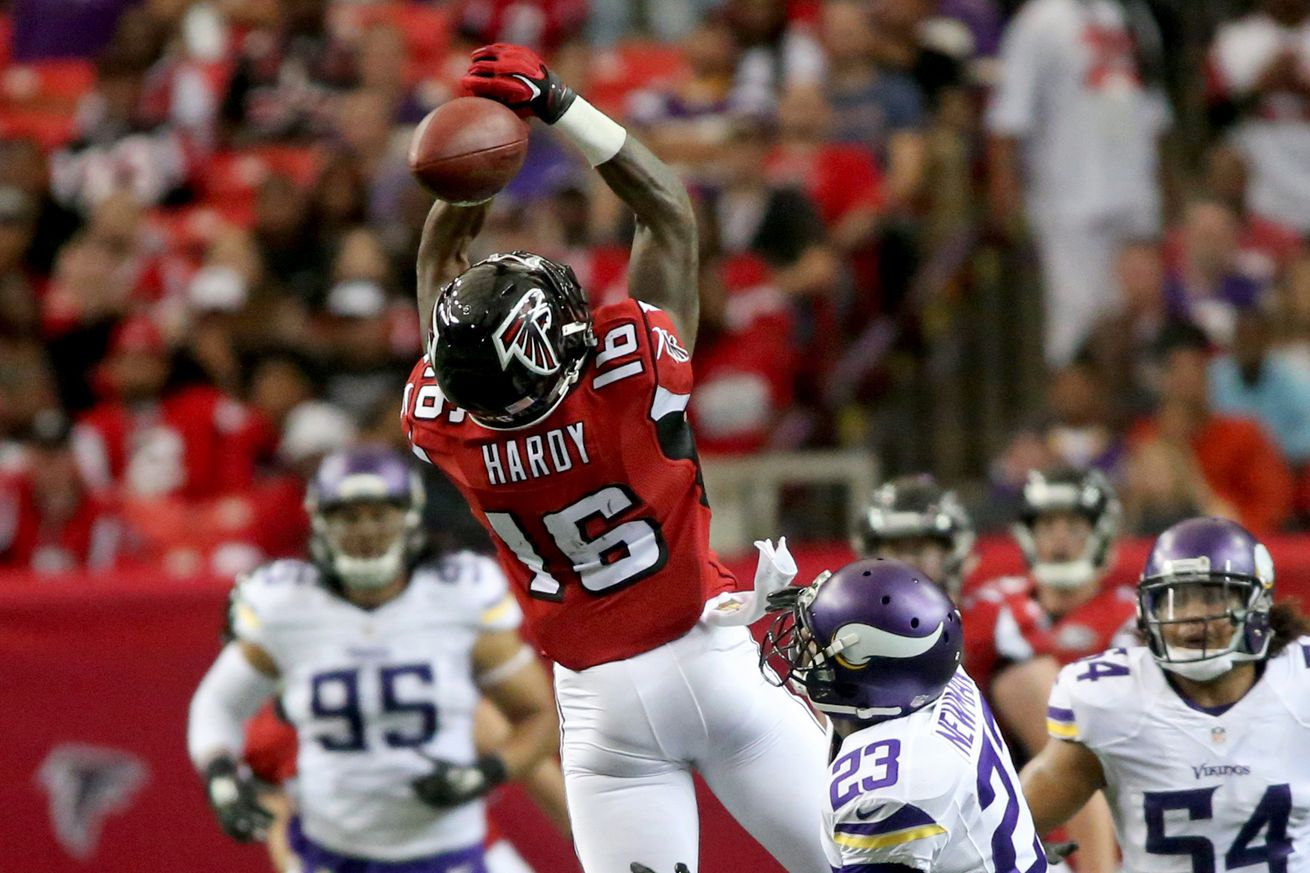 Jerseys NFL Sale - Dimitroff confirms Mohamed Sanu is WR2, Justin Hardy is WR3 - The ...