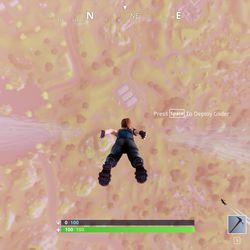 Falling onto the map looks a lot like parachuting in <em>Playerunknown's Battlegrounds</em> but controls more like <em>H1Z1: King of the Kill</em>. There is no free look at all in the game at this time.