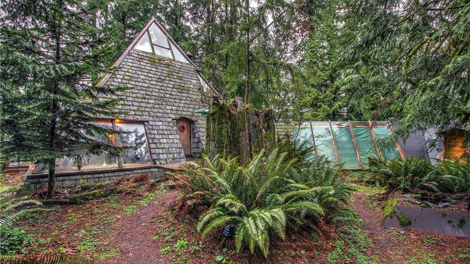 Amazing photo of Pyramid shaped '70s cabin offers funky retreat for $400K Curbed with #67483D color and 1600x900 pixels