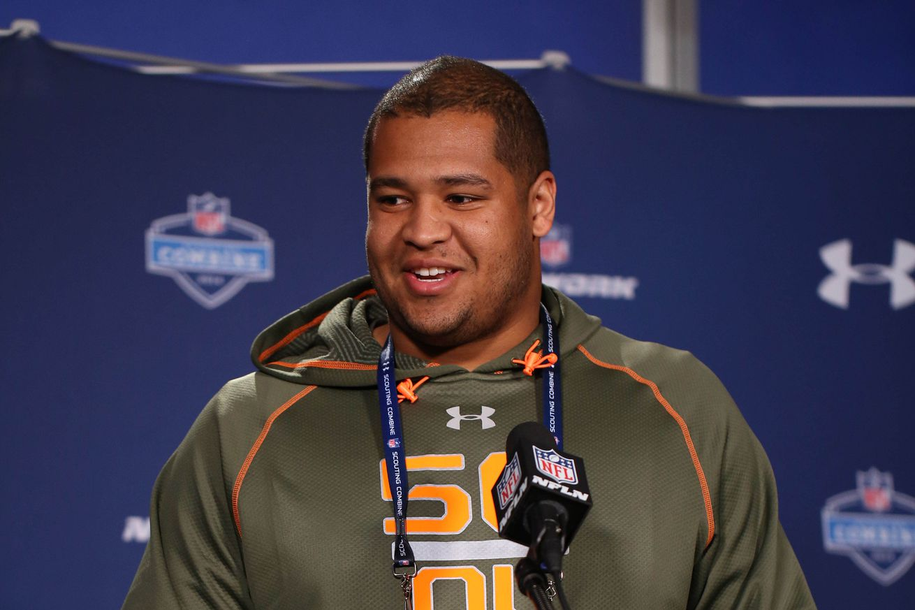 Wholesale NFL Jerseys cheap - NFL Draft results 2014: David Yankey selected by Minnesota Vikings ...