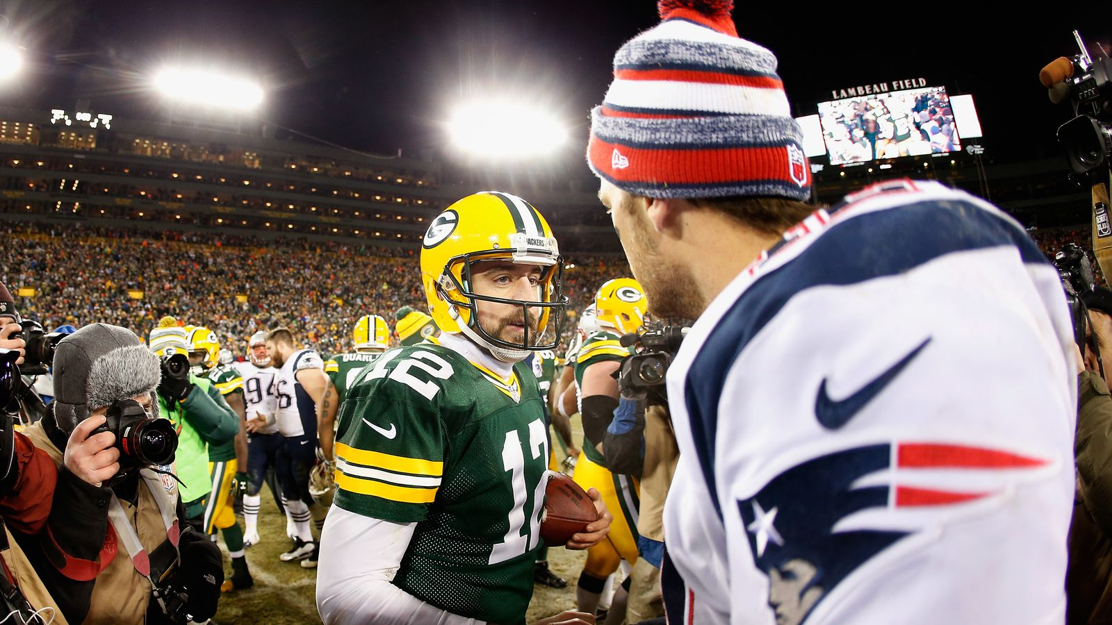 Tom Brady tries not to miss Packers games because he loves watching Aaron Rodgers