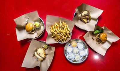 A selection of sandwiches and fries from the lunch menu.