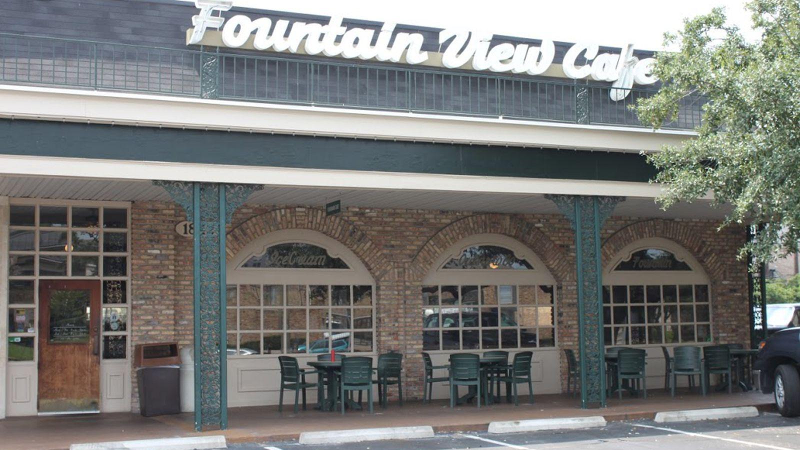 Fountain View Cafe Menu Houston Tx