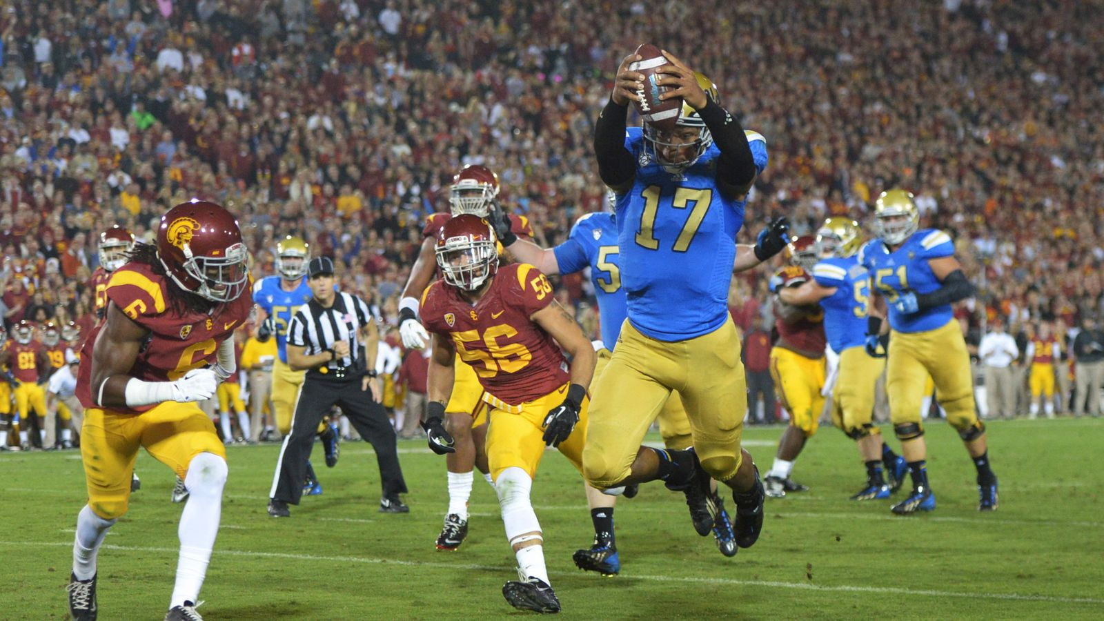 ucla college collwge football scores