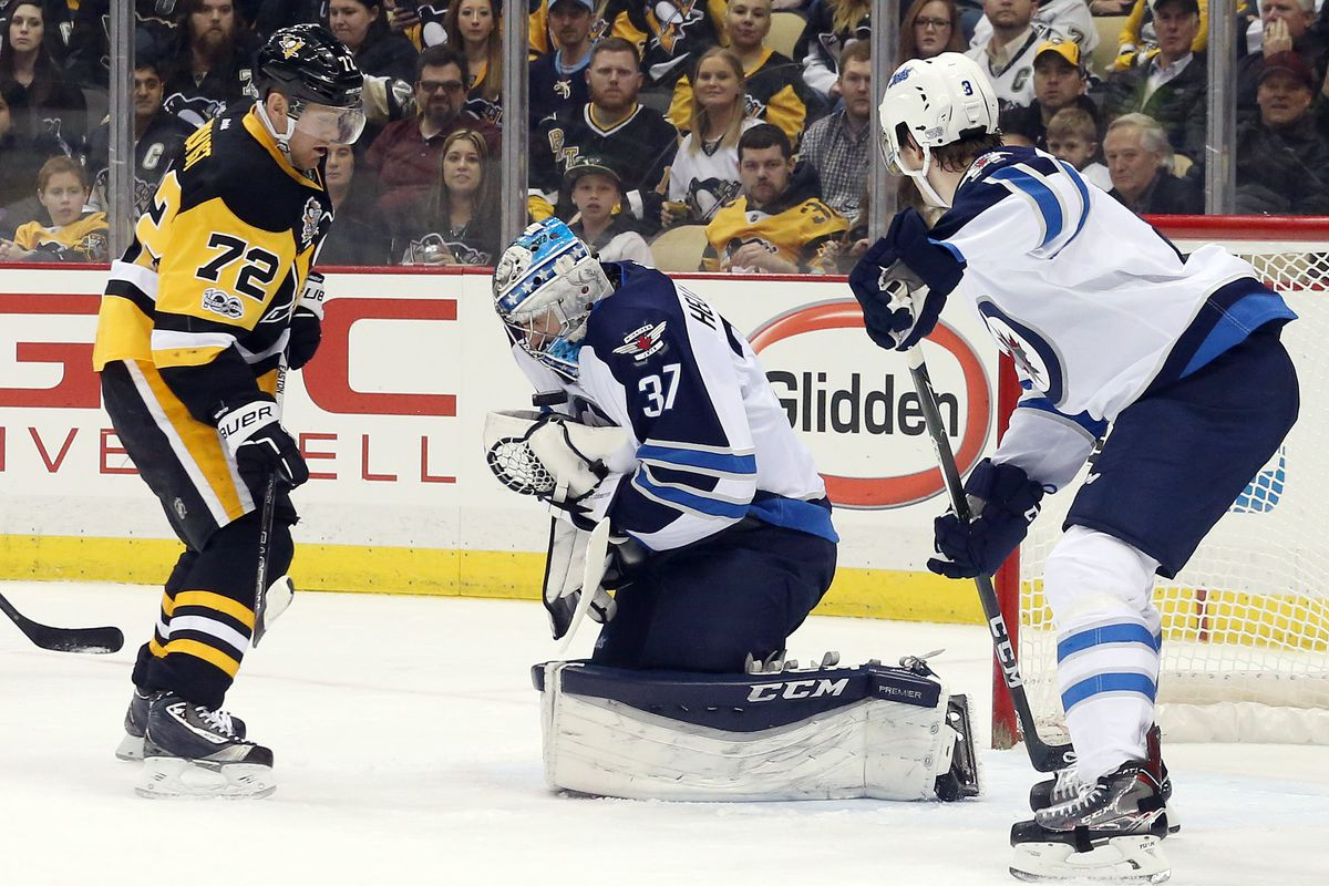 Game burst from Penguins topples Jets at home