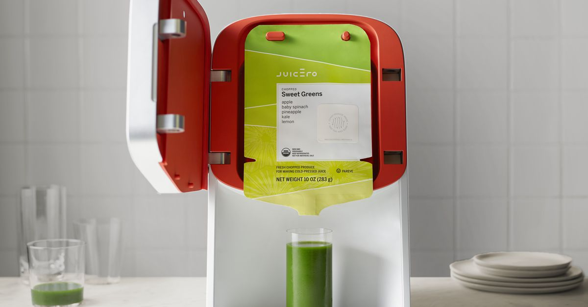 Juicero, maker of the doomed $400 internet-connected juicer, is shutting down