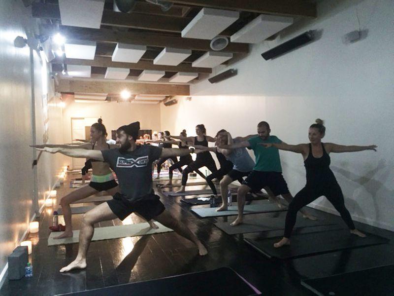 Minimalist Classroom Yoga ~ Y brings hip hop inspired candlelit yoga to melrose