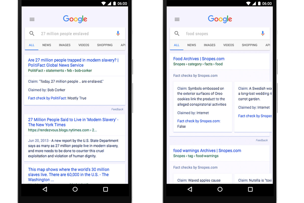 Google adds 'fact check' to global search results