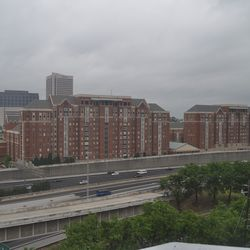 Looking toward Georgia Tech from one of the residential units.