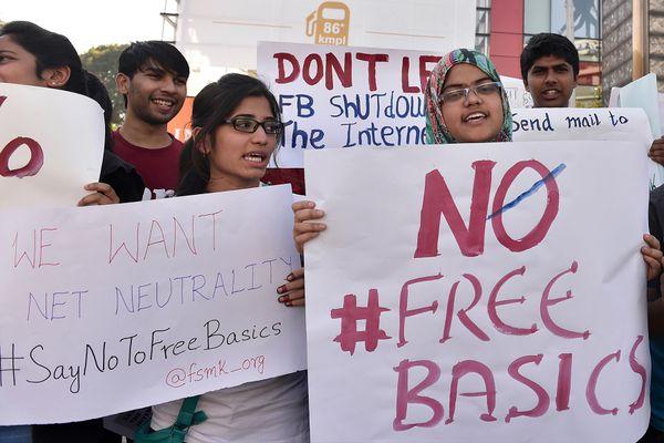 Free Software Movement Karnataka demonstrators in Bangalore on January 2.