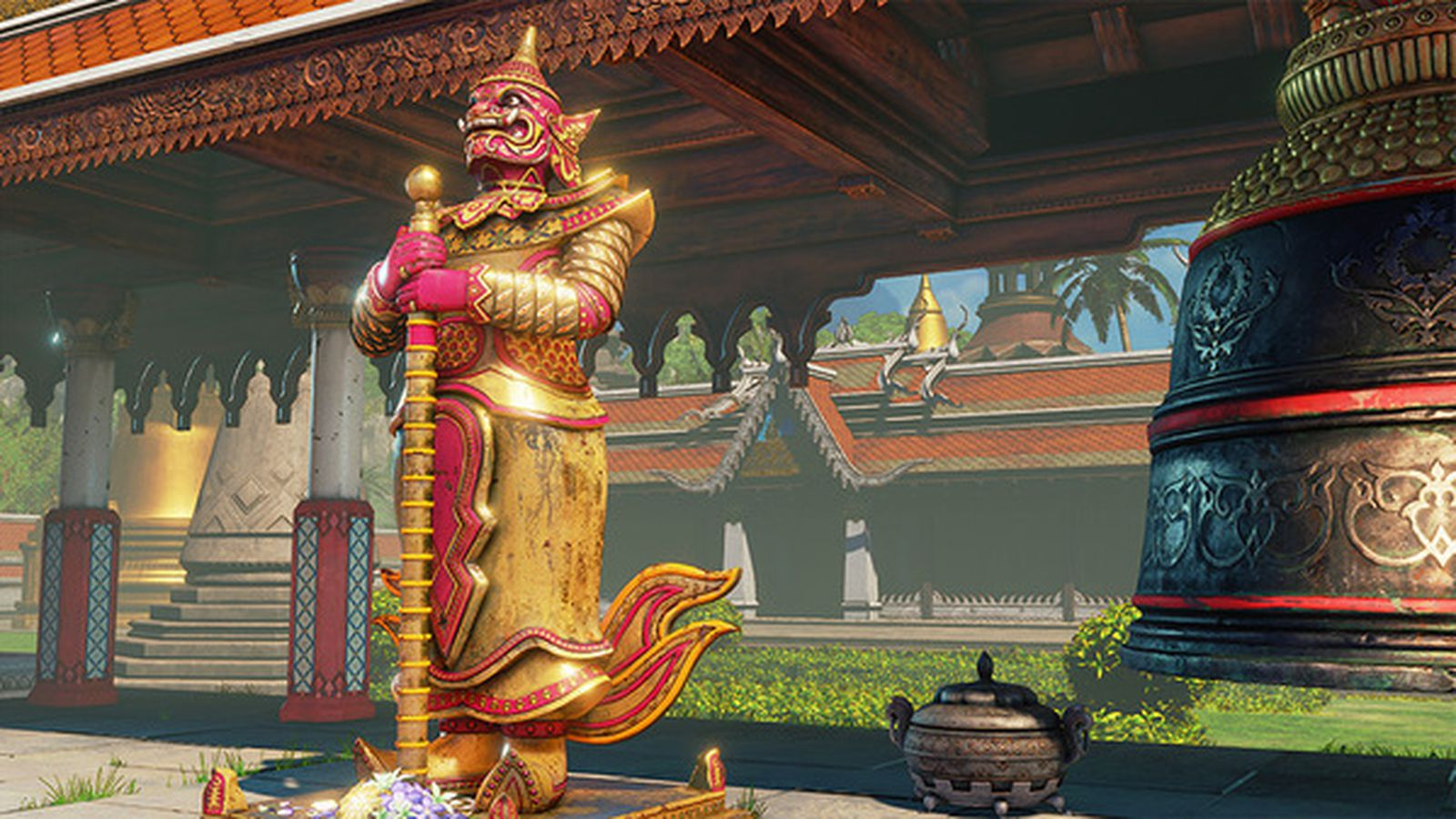 Street Fighter 5 players notice Islamic chants in new Buddhist temple stage