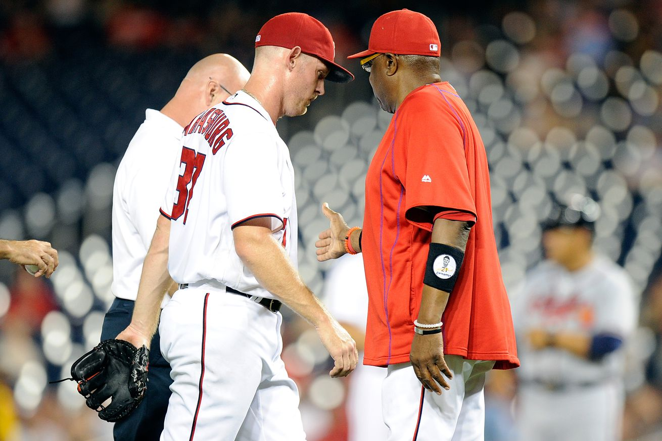 Nationals' Stephen Strasburg leaves start in third inning