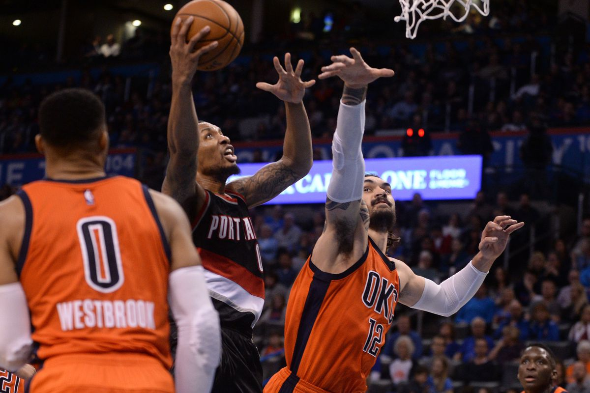 Thunder struggles in cruch time as Blazers rally