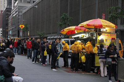 The Halal Guys street cart in New York City.