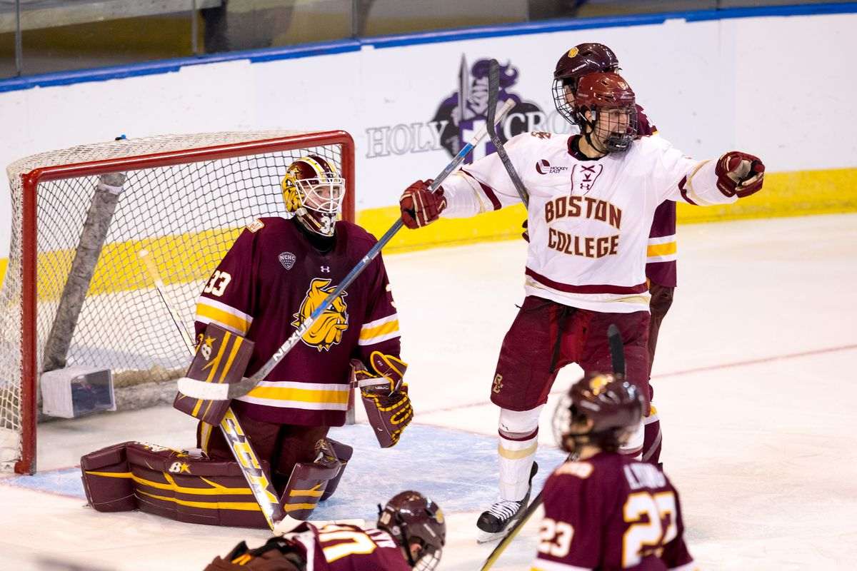 goal by goal boston college hockey rides hot start to frozen four bc athletics
