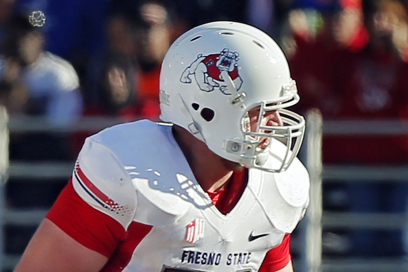 NFL Jerseys - NFL Draft 2015: Fresno State G Cody Wichmann selected by St. Louis ...