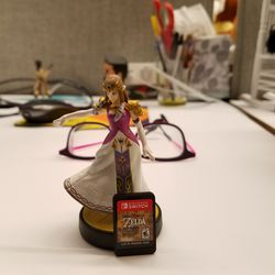 Zelda looks pretty great next to a copy of her newest game. We're looking forward to spending more time with her in <em>Breath of the Wild</em>.