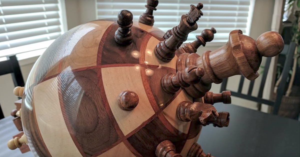This Spherical Chess Board Uses Magnets To Change Up The