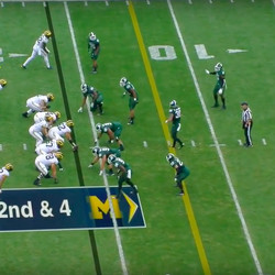 Check him out here before the ball is snapped.
