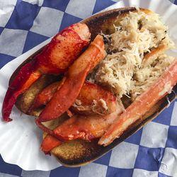 Clobster roll (half crab, half lobster) from The Crabby Shack