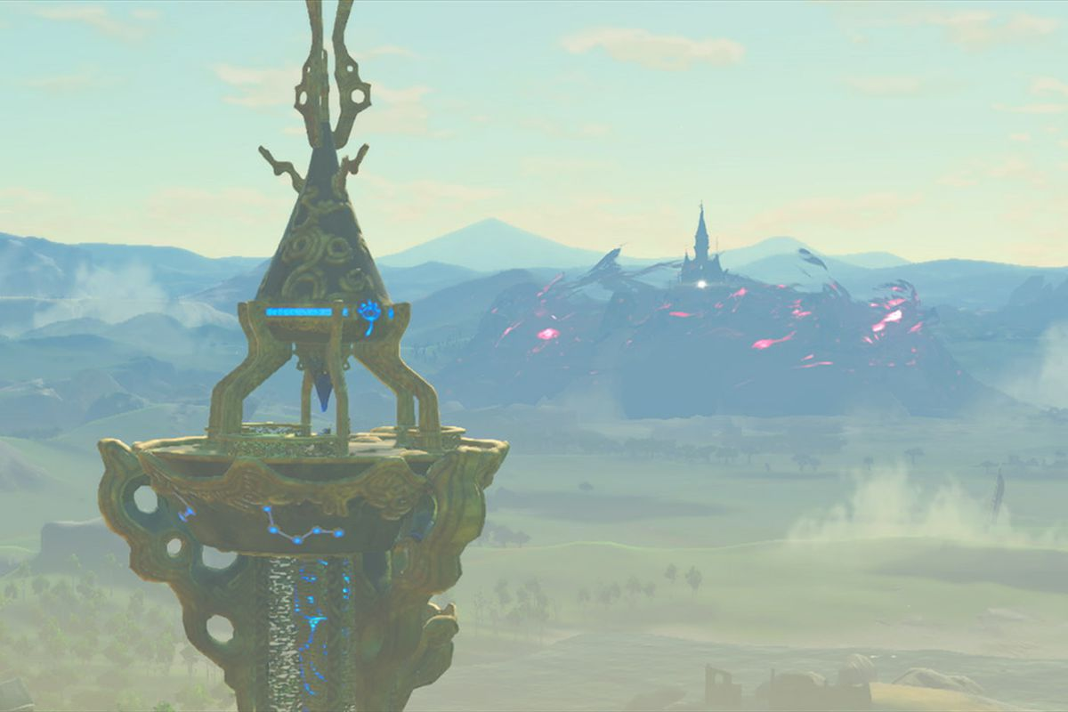 climbing towers in breath of the wild is way more stylish