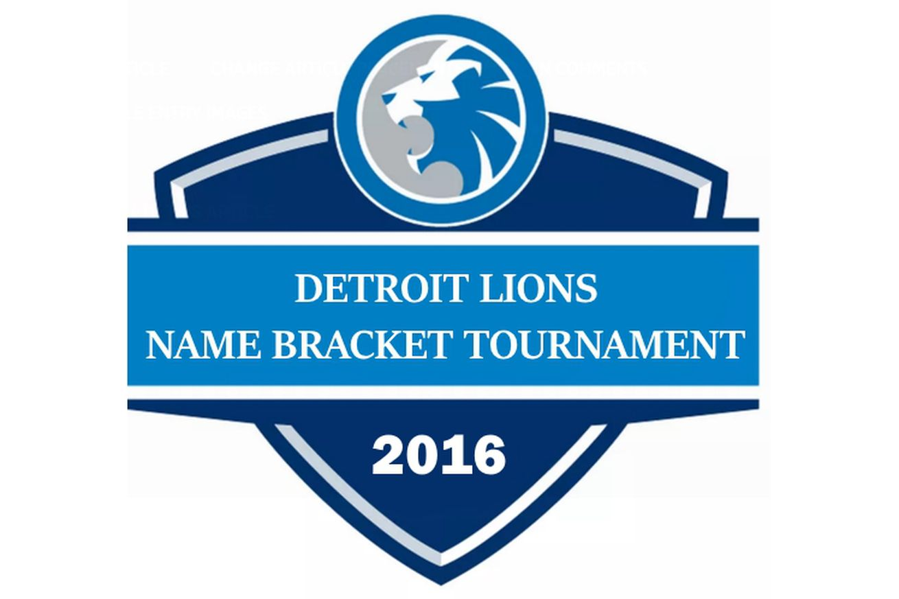 Nike jerseys for Cheap - 2016 Detroit Lions Name Bracket tournament: Round 1, Things of ...