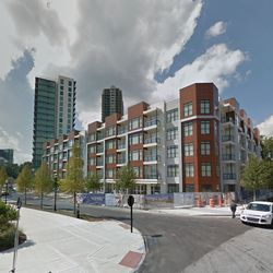 Since, AMLI has developed a high-rise apartment tower (back left) and is wrapping up work on two mid-rise blocks, all surrounding a new park, as part of AMLI 3464.