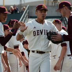Freshman Lyle Lin went 2 for 4 in his Sun Devil debut