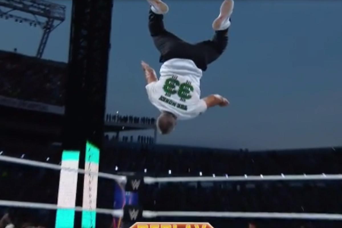 AJ Styles Defeats Shane McMahon At WrestleMania